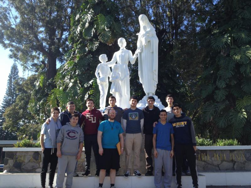 By Bro. Brian Poulin FMS, center, surrounded by students who attended the International Marist Youth Leadership Conference in Jalisco, Mexico.