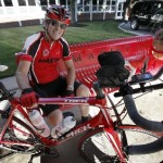 """Owen Glennon, a math teacher at Marist High School, 4200 W. 115th St., biked more than 1,000 miles this summer to raise money for the South Side school. """"It was an adventure, that's for sure,"""" Glennon said of his 1,054.6-mile cycling odyssey from New York to Chicago.(Karen Callaway/Catholic New World)"""