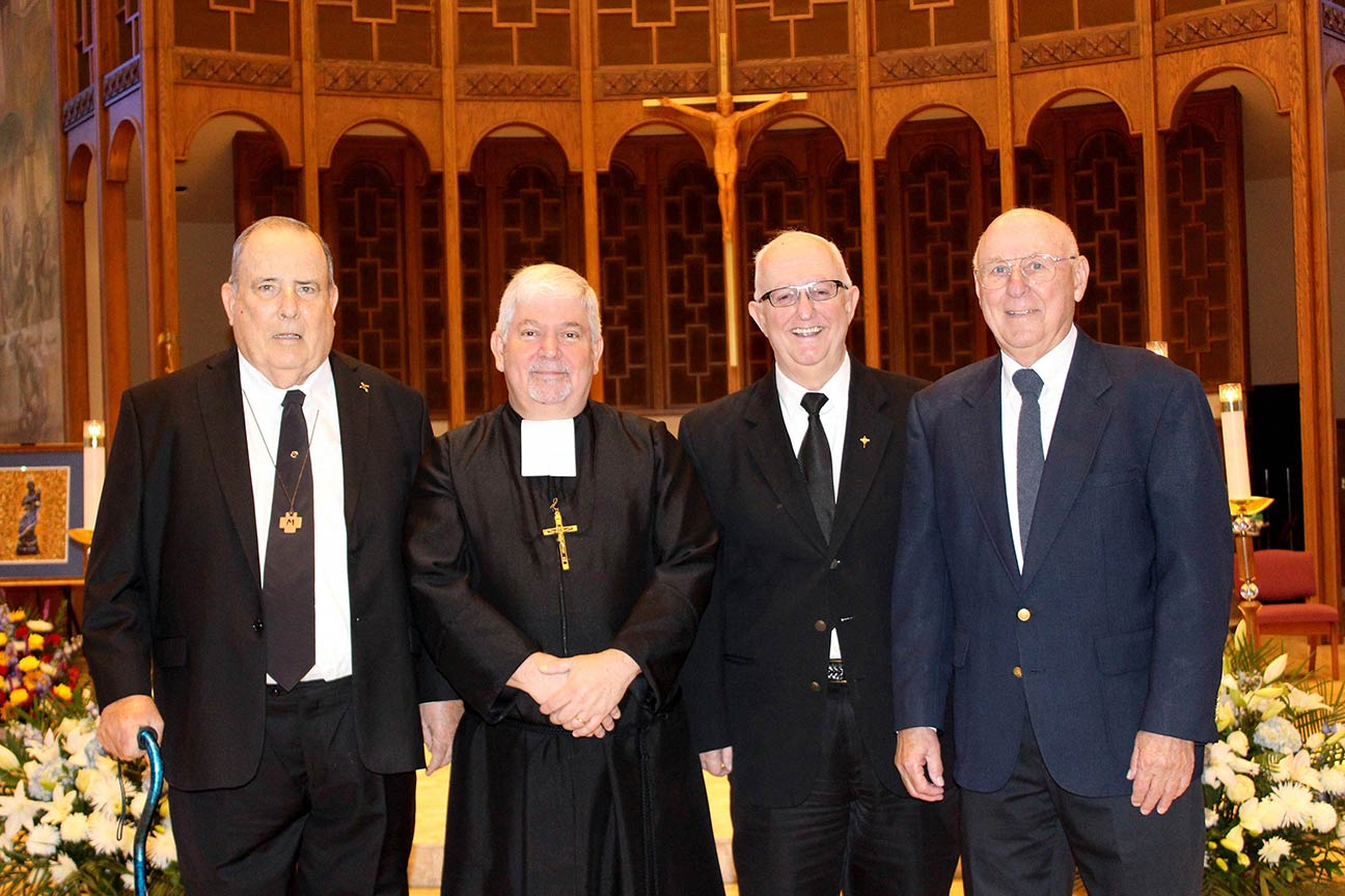 From left to right: Brothers Vincent Moriarty, Patrick McNamara, Provincial, Felix Anthony Elardo, Stephen Kappes. Not pictured: Br. Brendan Brennan.
