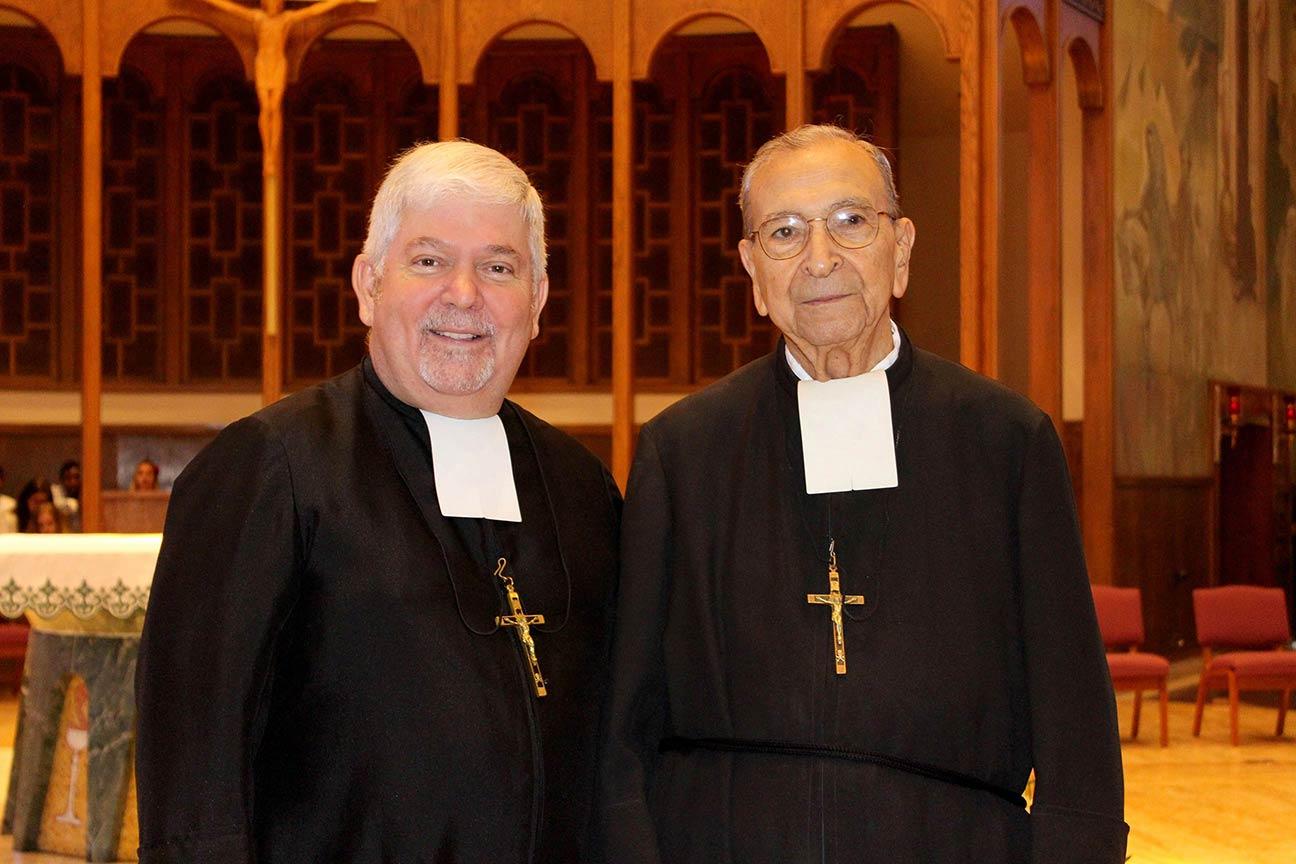 Br. Patrick McNamara, Provincial with our 75 year Jubilarian, Br. Rafael Martin.