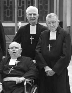Br. Hugh Turley (middle) with two of our elderly Brothers.